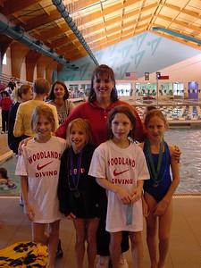 Stephenie Gunter w/ her Woodland's divers