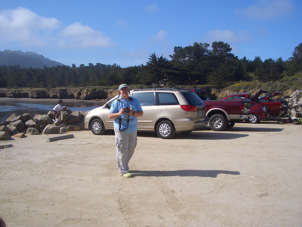 Me at Point Lobos before getting geared up and into the water.