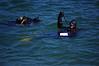 John Estabrook surface swimming at Breakwater