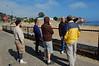 Keith gives a site briefing at the Breakwater while Josh Sera, John Wolfe, David Todd, Jonathan Lavan look on.