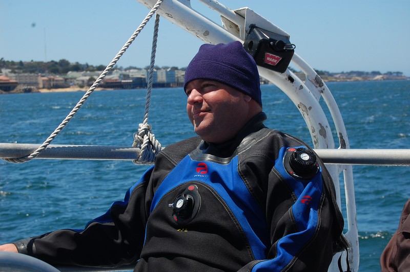 Invertebrate god, Dr. Steve Lonhart catching some sun after our dives on the Monterey Express.