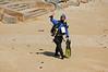 Keith Rootsaert walking to the water at Breakwater