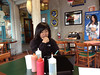 Lisa Gee takes her experience level test in Papa Chevo's Taco Shop.