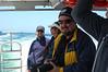 Jonathan Lavan on the boat.