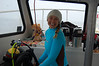 Alison Watts on the Monterey Express. Notice she is positioned right near all the Cup O' Noodles. And the tortilla chips.