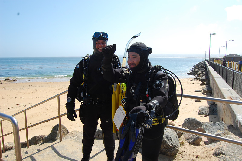 John Estabrook and Josh Sera about to tackle the Breakwater dive site