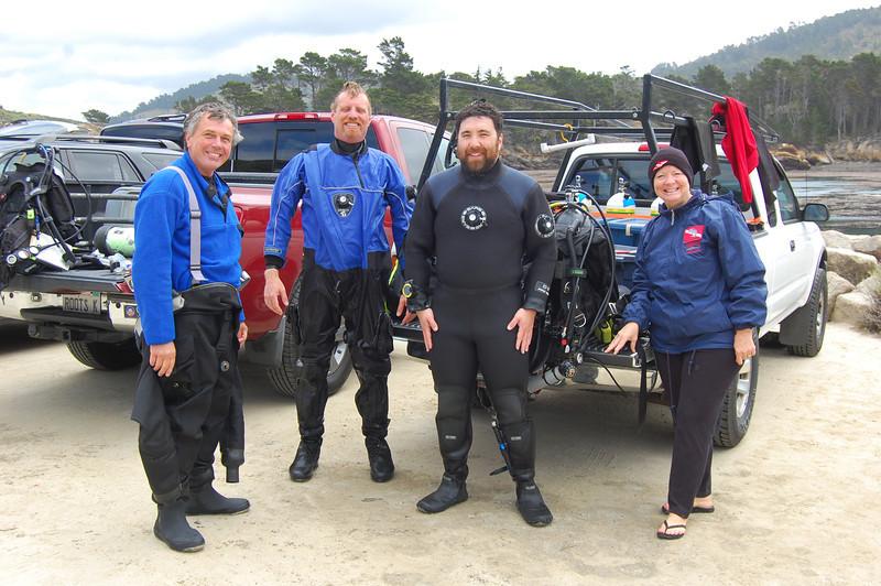 Gregg, Keith, Josh and Carol at Point Lobos