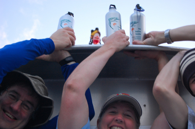 Claude, me and Nick with our obligatory SeaDoc water bottle pose.