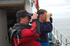 David Jennings and David Todd check out some bird on Tatoosh Island