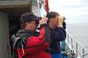 David Jennings and David Todd check out some bird on Tatoosh Island