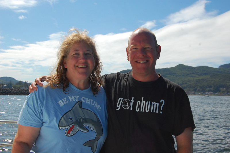 Dave Rintoul and I showed up one day wearing similarly themed shirts