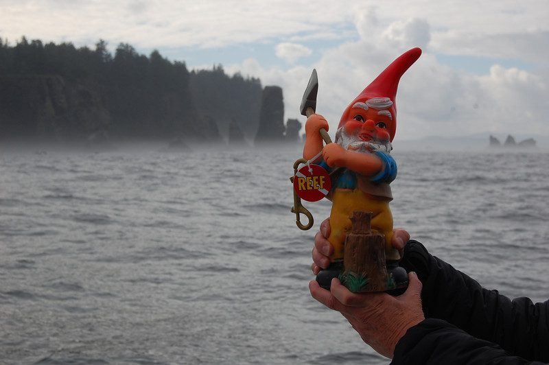 Hatchet Boy at the Fuca Pillar, near Cape Flattery