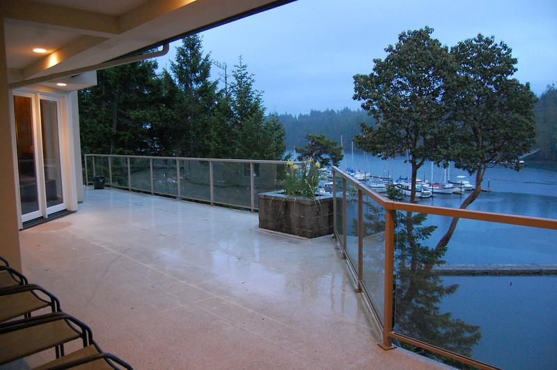 Deck overlooking Pleasant Harbor