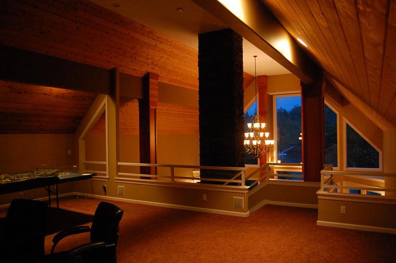 Above living room area is a huge loft.