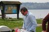 Brice Semmens tending the BBQ