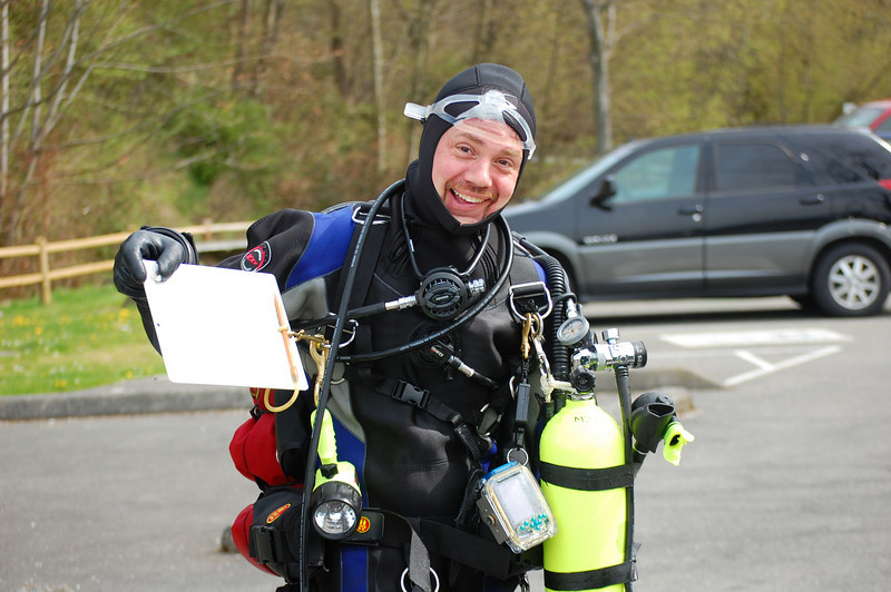 Michael Johnstone after a survey dive.