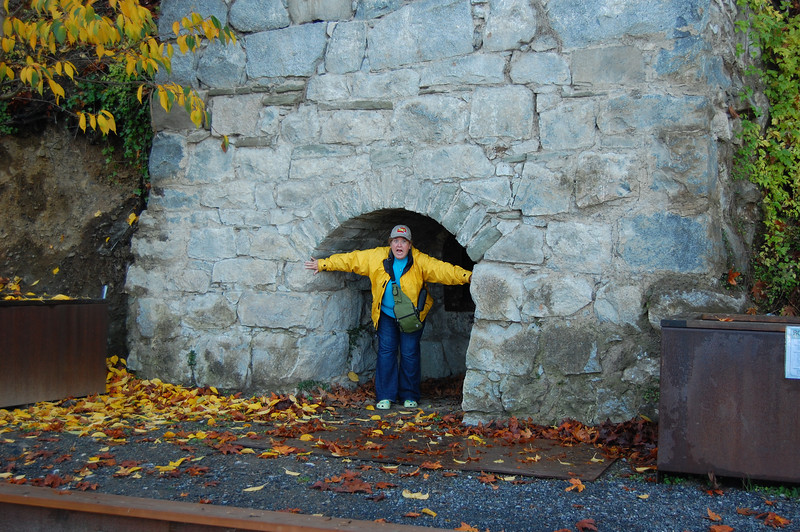 Me, inside a kiln