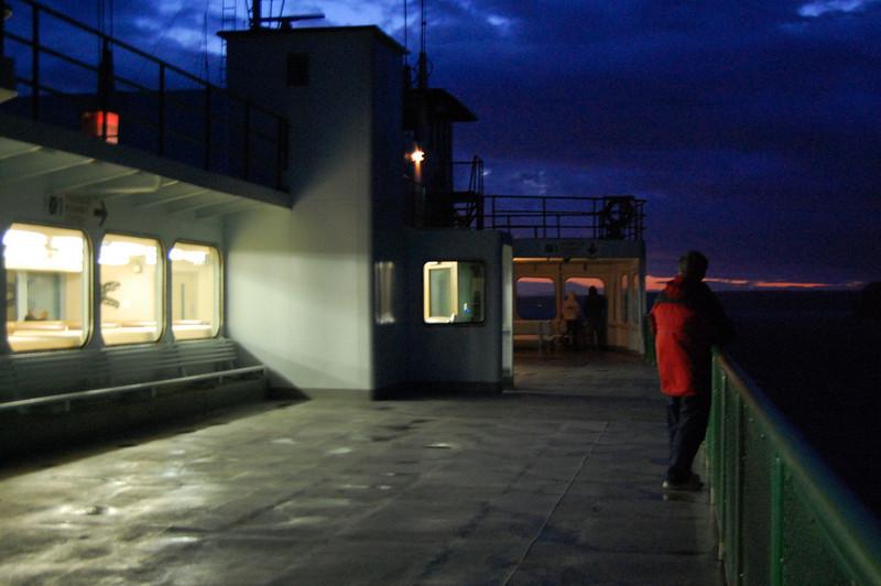 Nighttime ferry ride
