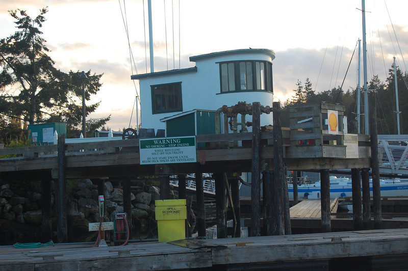 Fuel dock looks like a tugboat!
