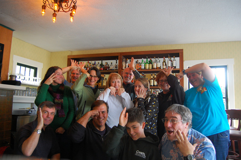 Silly group shot. I must say I've never taught in a BAR before! Pretty quirky!