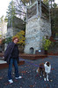 Peggy in front of one of the lime kilns