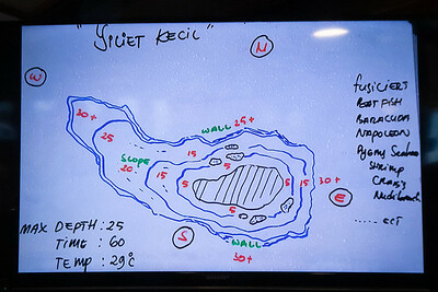Dive Briefing Site Map