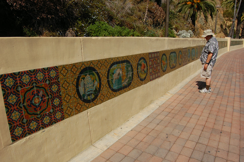 Path to Casino Point has lovely tile ocean artwork lining the walls.