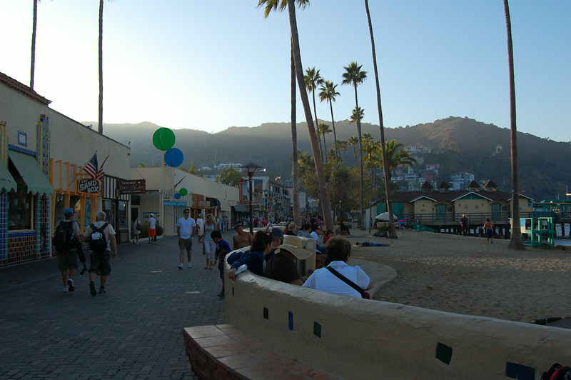 View down the main waterfront street in Avalon in Catalina