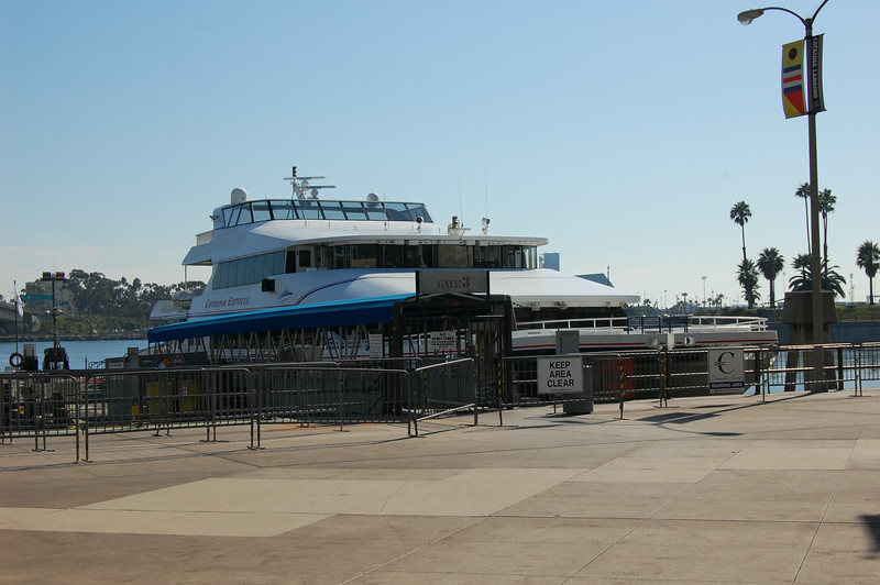 Catalina Express at dock in Long Beach