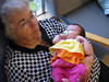 Great Grandma Nichols hold Abagael