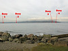 Four buoys mark the edges of the new marine reserve. Buoys 1 and 4 are closest to shore, with 4 marking the northernmost edge. The swim took about 15 min, but we were fighting big waves and a bit of current.