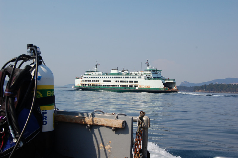 Ferry off the stern