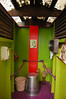 What a colorful outhouse!