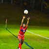 North Middlesex's Martina Nkwantah throws the ball in during the first half of Tuesday night's game. Sentinel & Enterprise/Ed Niser