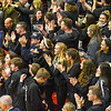 Groton-Dunstable fans cheer on their team in the final seconds of Tuesday's Division 2 Central Mass semifinal win over Medway. Nashoba Valley Voice/Ed Niser