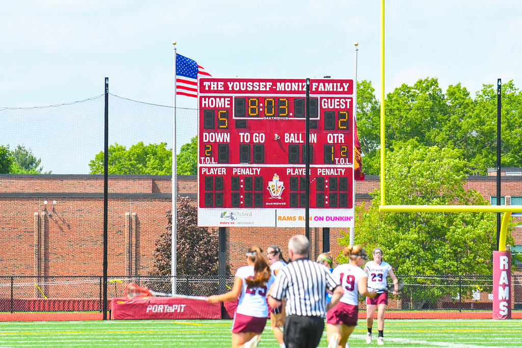 . A look at the scoreboard during Saturday\'s Division 2 Central/West final. Sun/Ed Niser