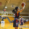 North Middlesex senior Grace Young fires a three-pointer during Monday night's Division 2 WMass. semifinal loss to Belchertown. Nashoba Valley Voice/Ed Niser