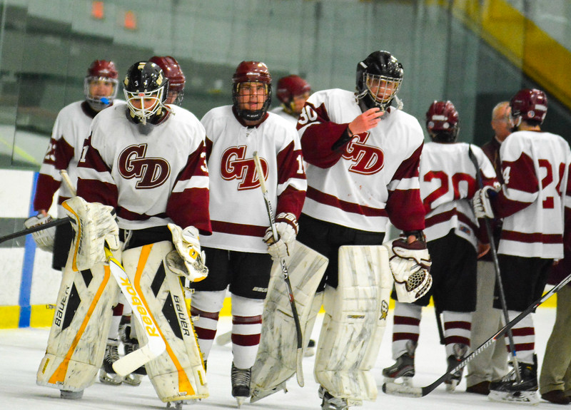 The Groton-Dunstable Crusaders fell in Monday night's Division 2 Central Mass Final to Algonquin in a 2 OT shootout at the Wallace Civic Center in Fitchburg.<br />  Nashoba Valley Voice/Ed Niser
