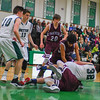 Ayer Shirley's Leo Rosales and Ben Hebert (right) battle for a loose ball during Tuesday night's game. Nashoba Valley Voice/Ed Niser