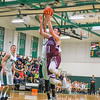 Ayer Shirley's Ben Hebert rises up for a shot in the fourth quarter of Tuesday night's game. Nashoba Valley Voice/Ed Niser