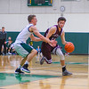 Ayer Shirley senior Jarrod Oberg drives with the ball during the second half of Tuesday night's game. Nashoba Valley Voice/Ed Niser
