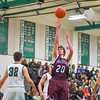 Ayer Shirley's Alex Patano shoots during Tuesday night's game. Nashoba Valley Voice/Ed Niser