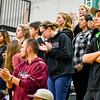 Ayer Shirley students look on as the final seconds tick off in the Panthers' Division 4 Central Mass first round loss at Sutton. Nashoba Valley Voice/Ed Niser