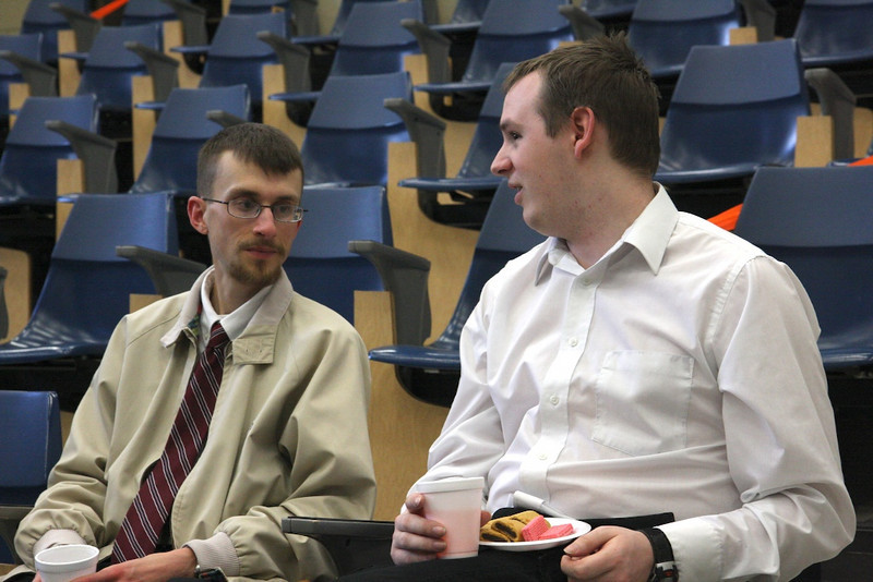 Dr. Zoller and Nathan chat it up.