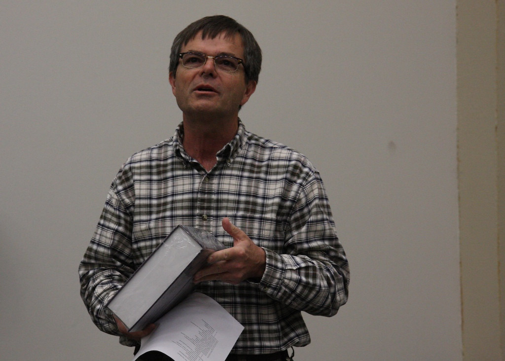 Dr. Cox tries to convince the audience of the merits of the CRC Handbook.