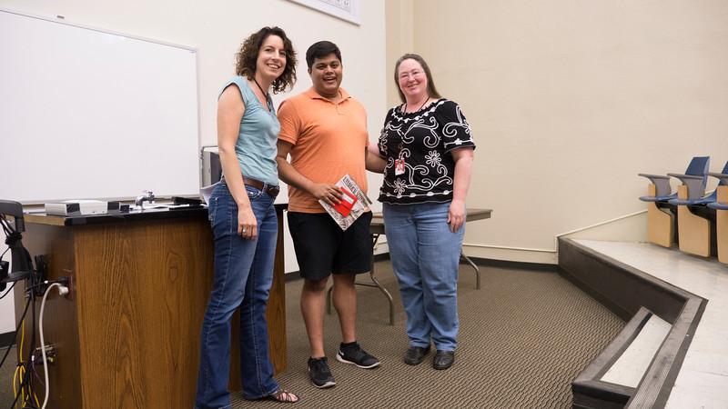 Special Biology Service award to Viraj Prabhu!