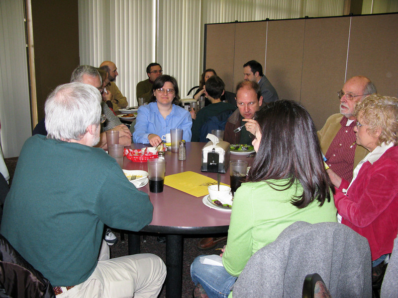 Parents have lunch on Saturday with faculty.
