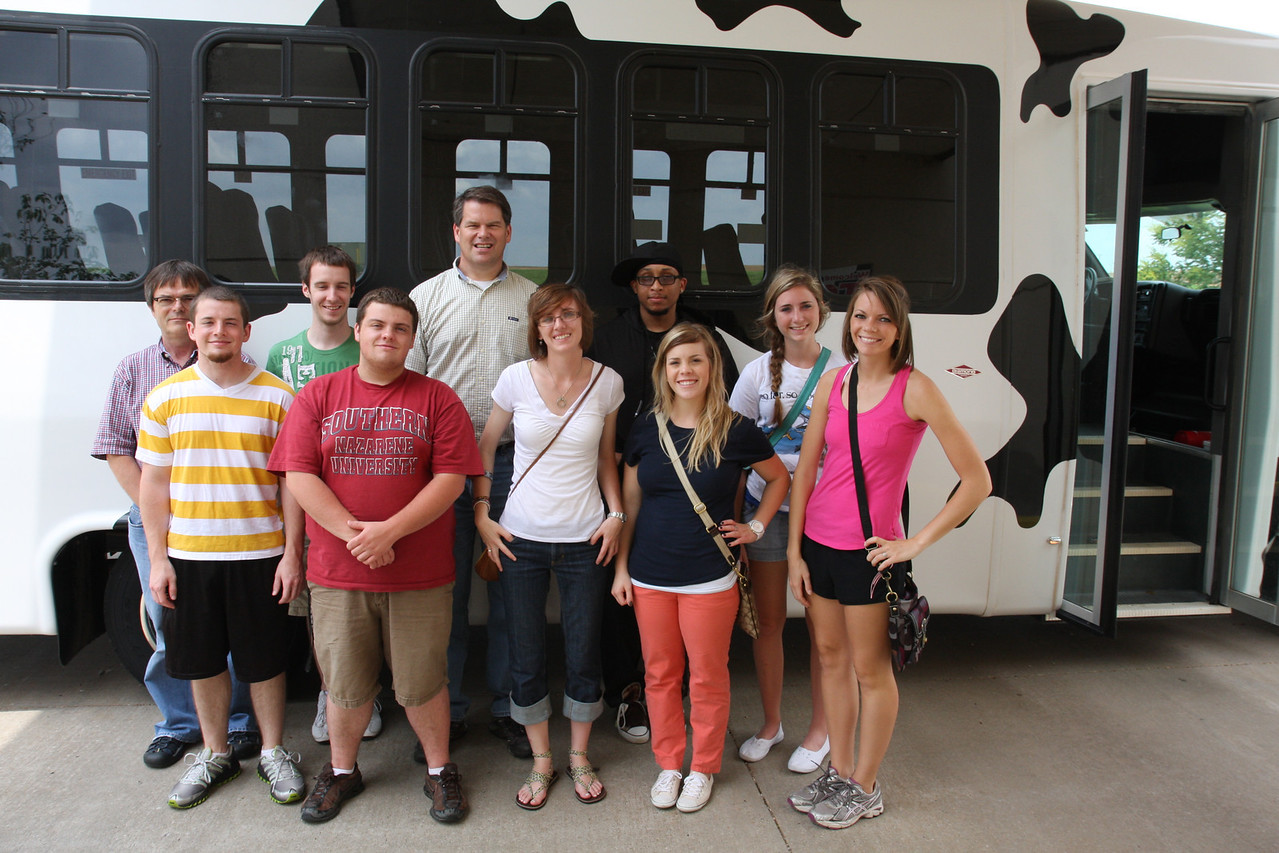 The team was able to see the whole Braum's farm riding on a cow bus that moo'ed when the doors opened. It was quite an exciting adventure!