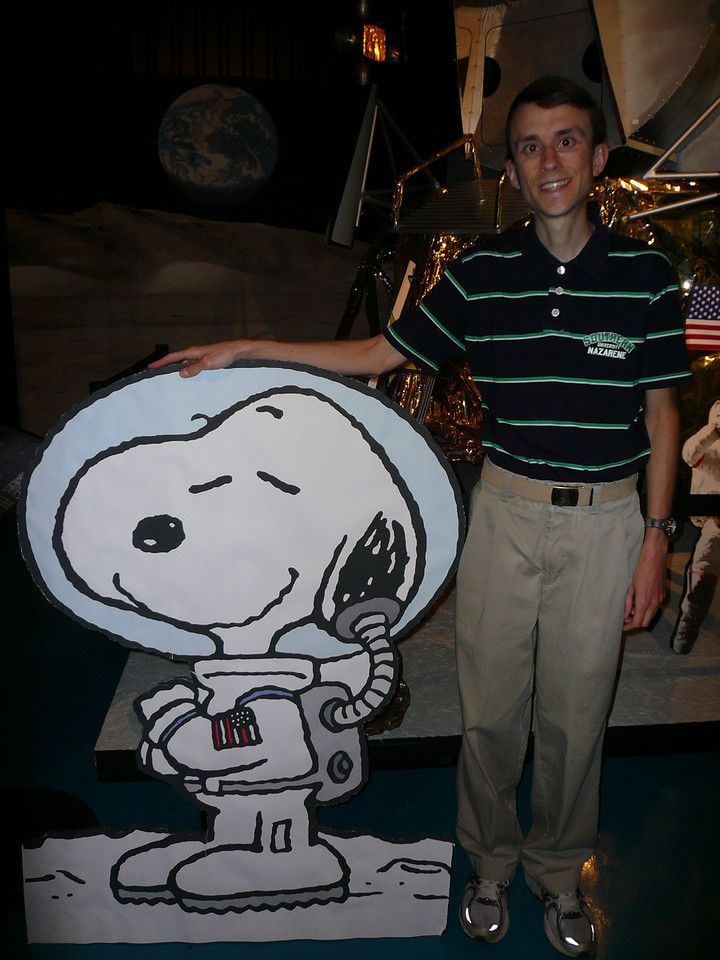 Dr. Zoller and Snoopy (from the Apollo 10 mission)