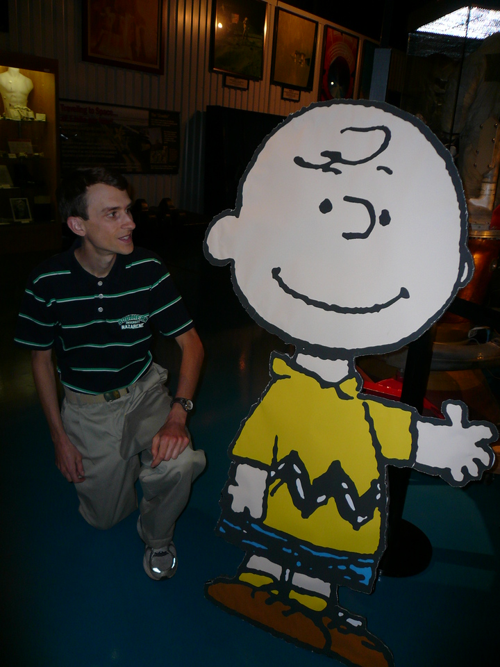 Another picture of Dr. Zoller and Charlie Brown (from the Apollo 10 mission)